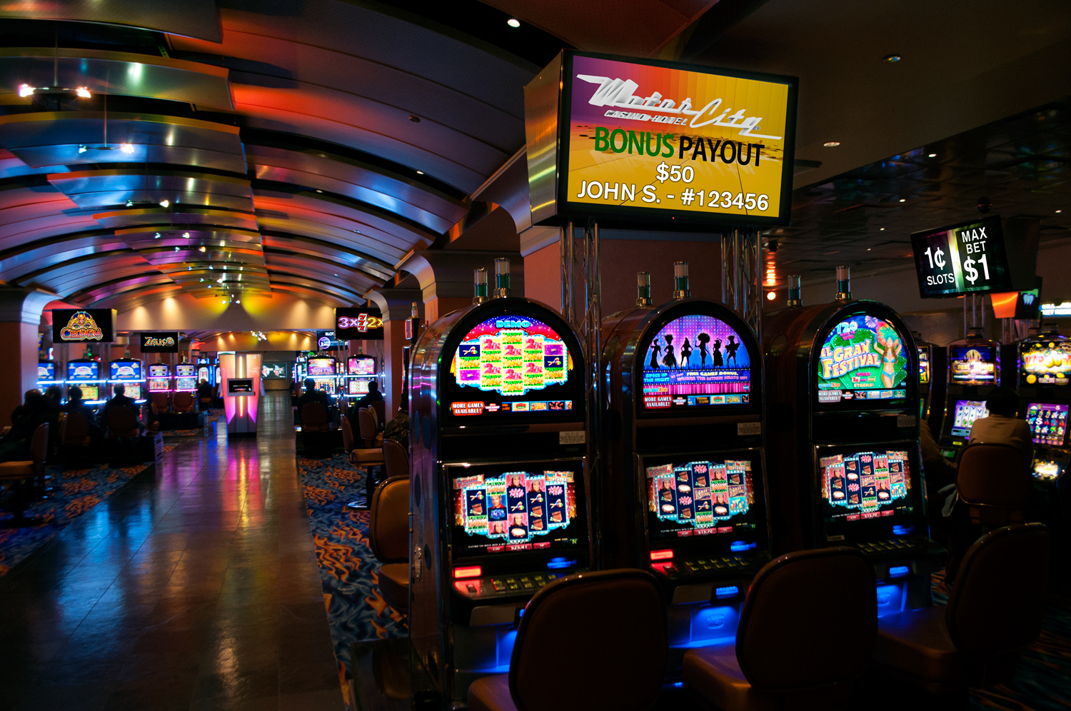 Motorcity casino hotel wins 2014 slot floor technology award for Motor city hotel casino