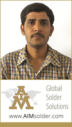 AIM Solder Appoints Chetan Shiva Technical Sales Manager for India