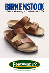 Birkenstock Sandals with cork footbeds at Footwear etc.