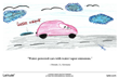 Child's illustration: water-powered cars