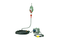 Explosion Proof Drop Light with an inline transformer and 25' cord