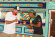 Wallace Spearmon Meets Yohan Blake Ahead of IAAF World Relays at...