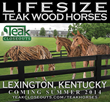 Teak Closeouts to Offer 40 Life-Size Teak Scrap Horses in Early Summer