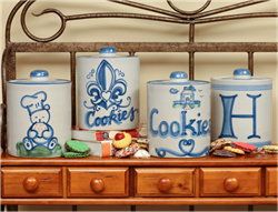 Stoneware Cookie Jars Made in the US by Hand at Hadley Pottery