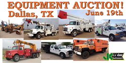 Dallas, TX public auction of used bucket trucks, digger derricks,