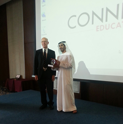 Steve from EuroTalk with Sultan Omran al Hallami of United Arab Emirates