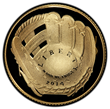 The common obverse of the 2014 Baseball Hall of Fame coins designed by Cassie McFarland.  (Photo by PCGS.)