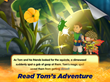 Read along during Tom's adventure in Treetopolis