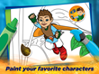 Kids can paint their favorite characters with fun coloring pages!