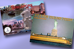 Photo of Singapore postcard by Michael Schneider and photo of Staten Island Ferry postcard by Adam79 (www.flickr.com) (CC)