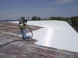 The CPR System is a lightweight, low odor, synthetic liquid rubber membrane that extends the service life of existing metal roof and wall panel systems - photo