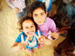 Children in Zaatari who were part of the shooting of #RestoreHappy