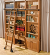 Library Ladder Hardware and Wood Kits available from Rockler.