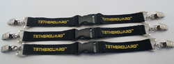 The TetherGuard anchors head covers to each other or to your golf bag
