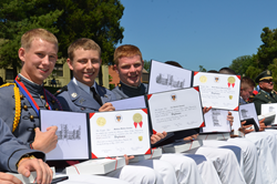 Cadets Show Off Their Diplomas at Fork Union Military Academy