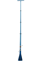 40' Light Tower featuring a fold over assembly, 360° rotating capabilities, and a removable mast head