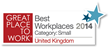 Winshuttle Named One of UK's Best Workplaces