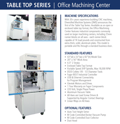 DMS CNC Routers Table Top Series - DMS 3 Axis Office Machining Center Machine Info