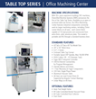 Diversified Machine Systems to Feature the Table Top Series' 3 Axis...