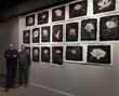 The Midnight Garden Wall of Platinum Prints, with photographer Cy DeCosse and printer Keith Taylor