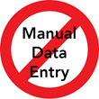 no manual data entry