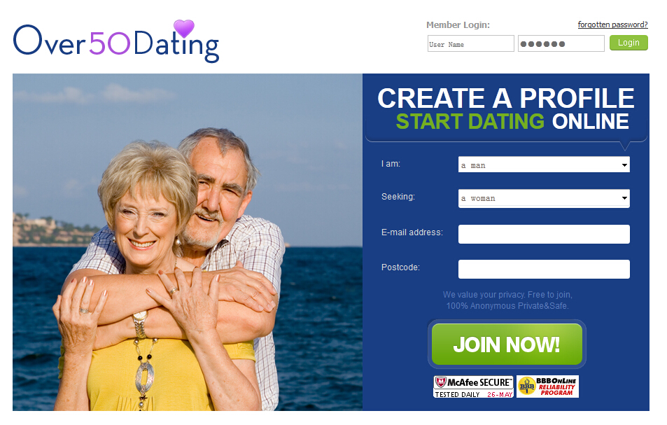 Over 50 dating sites perth