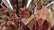 MADANGSUI's buyer Kyu Lee selects the finest meats from carcasses sought by top steakhouses