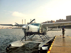 Tropic Ocean Seaplane docked in Manhattan