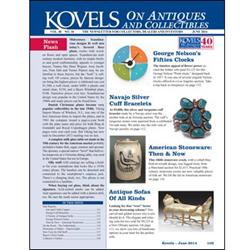 kovel, antiques, collectibles, george nelson, navajo bracelet, antique sofa, stoneware, copper