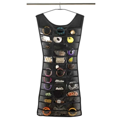 image of little black dress jewelry organizer from SpaceSavers.com