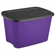 Sterilite 18 Gallon Purple & Black Tote, $7.99 Each/ $59.99 Case of 8