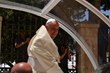 Pope Francis smiles at Bethlehem crowds during his Holy Land pilgrimage