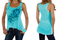 American Made Loose Fit Floral Tank.