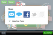 Instantly share your hand animations on Twitter, Facebook, and by email and text message.