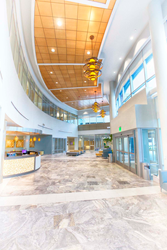 Kirkland Cancer Center lobby. The cancer center is part of West Tennessee Healthcare.