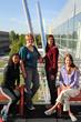 Salt Lake Community College anatomy students Kari Walker (l-r), Sandy Pick, Caris Cassady and Jennifer Gebhardt.