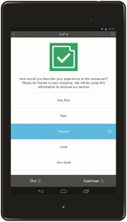 Check Point contains a survey builder tool for users to craft questions that fit their specific business needs.