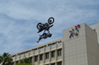 Freestyle Motocross Riders Thrill Patients and Crowd at 11th Annual Big Air Kids Fair at Loma Linda University Children's Hospital
