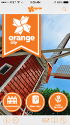 Orange City Iowa iPhone App Home Screen