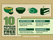 Ten Popular Gluten Free Menu Items - Infographic