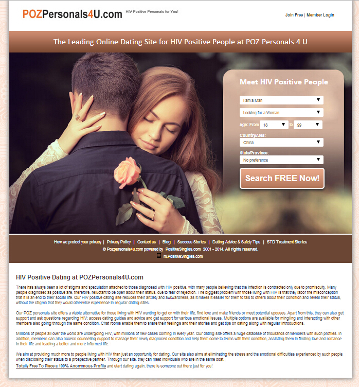 Free hiv positive dating website