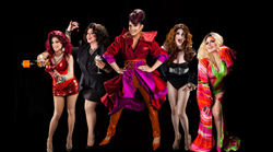 The drag queen cast members of LIPSTICK AND LASHES