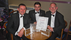 Sean Parkinson, Steve Hart and Tim Parkinson of Airedale Springs at the Keighley Business Awards