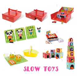 Examples of Slow Toys available to buy at Little Citizens Boutique