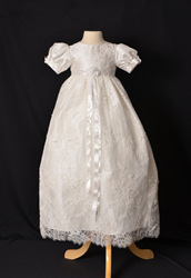 Silk Couture Christening Gown