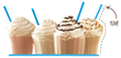 Frozen coffee, tea and hot chocolate drinks made with Frozenta Frozen Drink Mixes
