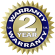 Industry Leading Two Year Limited Warranty