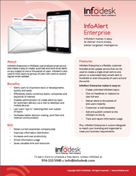 InfoAlert enterprise content alert solution