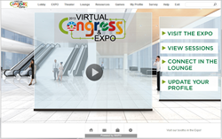 APA's 2013 Virtual Congress & Expo Home Screen