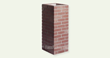 Carlton Brick Bold Rouge Dusted Medium Column, by FauxColumns.com